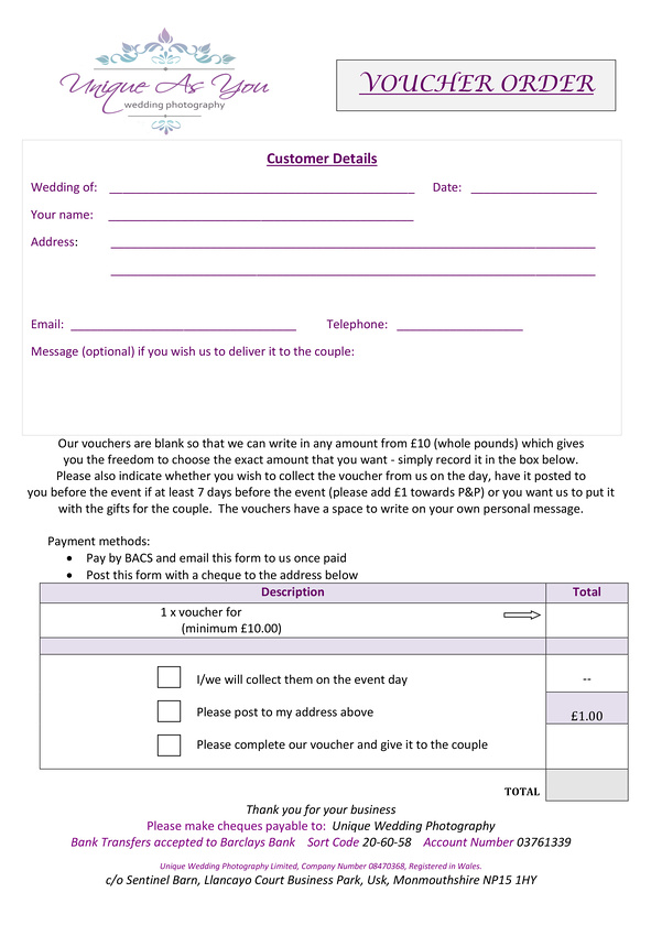 UAY Voucher order forms 2017