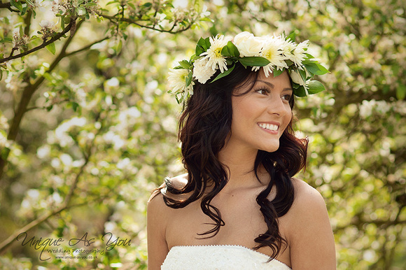 wedding photographer spring orchard bride in hereford