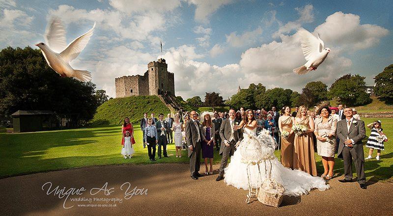 wedding dove release cardiff castle
